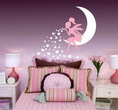 Unicorn fantasy girls bedroom wall art sticker vinyl decal various ...