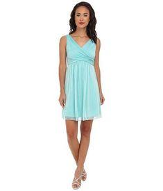 Adrianna Papell Women's V-Neck Chiffon Cocktail Dress, Spearmint, 14 Ice Blue Dress, Blue Colour Dress, Cute Black Dress, Turquoise Homecoming Dresses, Turquoise Dress, Bridesmaid Dresses, Bridesmaids, Buy Dress, Dress Skirt
