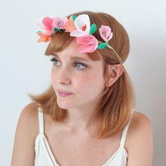 Kit couronne de fleurs en papier - Adeline Klam
