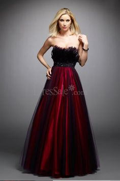 ppealing Burgundy Taffeta Quinceanera Dress with Delicate Faux Furs ...    dressale.com- For more amazing finds and inspiration visit us at http://www.brides-book.com/#!brides-book-outlet-bridal/c9wq