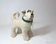 Ceramic Dog Sculpture - Custom pet portraits - your dog in clay
