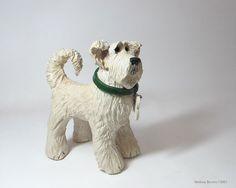 Ceramic Dog Sculpture - Custom pet portraits - your dog in clay