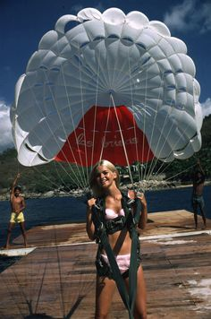 "Slim Aarons ""Paraglider"" sold at Jonathan Adler"