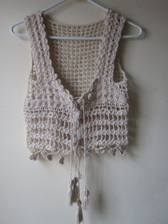 Crochet Patterns Vest Crochet Cropped top Crochet vest festival by Elegantcrochets Gilet Crochet, Crochet Vest Pattern, Crochet Shirt, Crochet Jacket, Crochet Cardigan, Crochet Patterns, Crochet Beach Dress, Crochet Halter Tops, Crochet Bikini Top