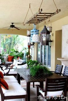 10 Outdoor Lighting Ideas for a Shabby Chic Garden #6 is Lovely Outdoor Lighting Wood Lamps