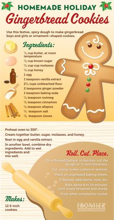 Homemade Holiday: Gingerbread Cookies - Tipsögraphic