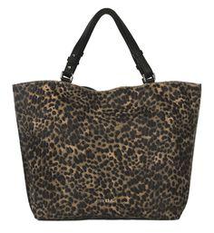 Shopper de piel en leopardo print. #bolsodepiel #handbags #Bridas #Clenapal #FW14