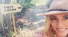 Free spirit: Elsa Pataky, revealed the secluded hair salon behind her… Elsa Pataky, Byron Bay, Free Spirit, Panama Hat, Salons, Celebs, Instagram Posts, Hair, Places