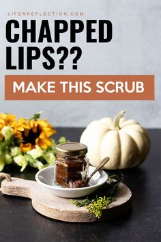 Looking for a remedy to chapped lips? Make this lip scrub in your kitchen now!