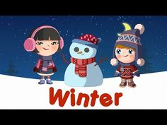 Winter words for kids (flashcards video) - YouTube