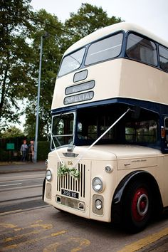 Double decker bus to cart you around on your wedding day!