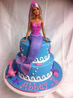 Video - How to decorate a Barbie Doll/Princess Cake with buttercream icing…