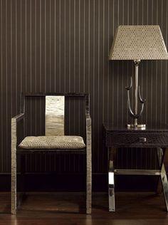 Suiting-Inspired Decor – Home Office Wallpaper Decor, Furniture Chair, Furniture, Blue Decor, Masculine Decor, Interior Design, Home Decor, Navy Blue Decor, Apartment Decor