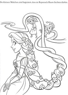 Tangled Free Printable Coloring Pages Of Rapunzel Flynn Pascal Maximus Gothel