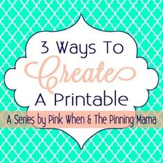 How to Make a Printable On PicMonkey - The SITS Girls
