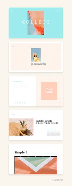 Collect PowerPoint Template is a sensuous presentation to show your business. This presentation 'Collect' contains beautifully designed elements. There is no need to use any additional software. Show your awesome business with Collect Template. #ppt #summer #aqua #simplep #AD