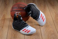 ba9f7b5068e adidas Harden Vol. 2 Black White Red For Sale New Jordans Shoes