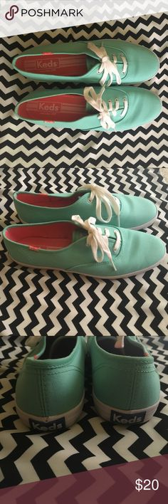 Keds! Sea foam keds only worn once! Size 8 Keds Shoes Sneakers