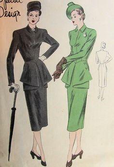 Image result for 1940's dress patterns