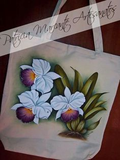 Marelpinta One Stroke Painting, Tole Painting, Fabric Painting, Painting & Drawing, Painted Bags, Hand Painted Canvas, Art Hub, Diy Tote Bag, Country Paintings