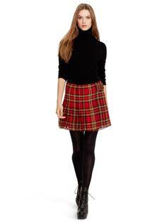 Silk Georgette Plaid Skirt - Polo Ralph Lauren Short Skirts - RalphLauren.com