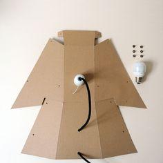 DIY Lamp - recycled cardboard - Terkel Skou Steffensen