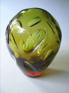 WMF Vase Erich Jachmann 50erJahre Kristallglas mit Schliff