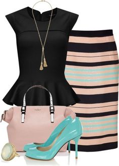 80 Elegant Work Outfit Ideas in 2017  - Are you looking for catchy and elegant work outfits? We all know that there are several factors which control us when we decide to choose something to... -  work-outfit-ideas-2017-71 .
