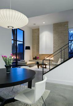 black & white living room