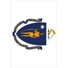 Toland Home Garden Massachusetts State Flag 2-Sided Garden Flag