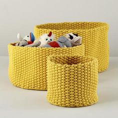 Kids Storage: Colorful Knit Medium Storage Bins in All Storage