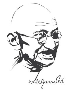 Mahatma Gandhi by astayoga.deviantart.com on @DeviantArt Mahathma Gandhi, Mahatma Gandhi Photos, Gandhi Quotes, Portrait Sketches, Art Drawings Sketches, Portrait Art, Quotes Wolf, Dibujos Pin Up, Shadow Art