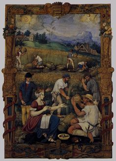 1520 (approx) - MINIATURIST, French - August from an Book of Hours Illimination - Musée National de la Renaissance, Écouen