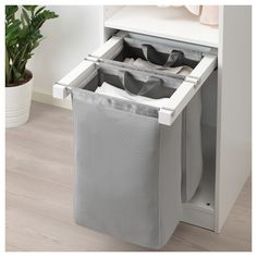KOMPLEMENT pull-out storage bag - white - IKEA kitchen equipment little green accentsSmall kitchen ideas. Laundry Room Organization, Laundry Room Design, Ikea Laundry Room, Medicine Organization, Design Kitchen, Kitchen Interior, Small Storage, Diy Storage, Storage Ideas