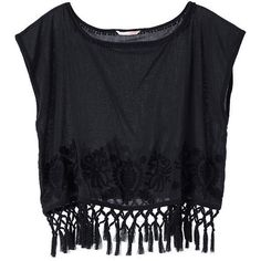 Victoria's Secret Embroidered Fringe Top ($25) ❤ liked on Polyvore featuring tops, shirts, crop tops, blusas, cotton shirts, cotton crop top, boat neck tops, print shirts and white crop top