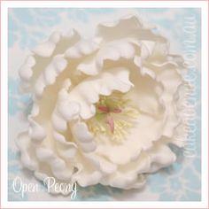 Open Peony Sugar Flower