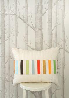 Modern Lumbar Pillow - Picket (Multi) by bperrino on Etsy https://www.etsy.com/listing/114687519/modern-lumbar-pillow-picket-multi