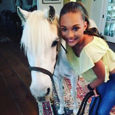 Maddie with a horse. Pin credit to ♡DM Fandom♡