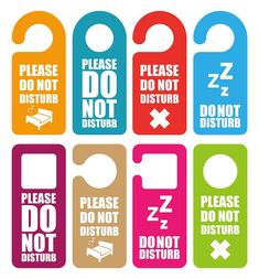 Hotel door knob sign | do not disturb door sign | hotel door do ...