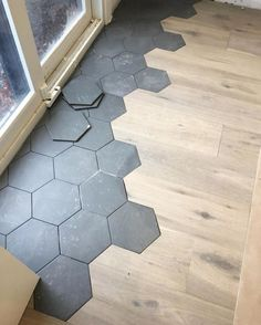 9 mythical answers to flooring transition ideas disclosed 2 « Kitchen Design Tile To Wood Transition, Transition Flooring, Floor Design, Tile Design, House Design, Design Art, House Tiles, Hexagon Tiles, Home Upgrades