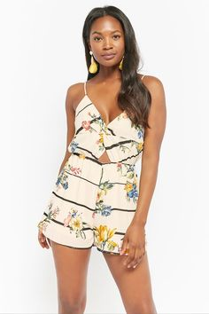 05a6f29c265 Product Name Floral Striped Romper
