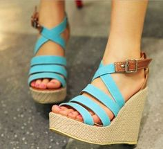Item Type:Sandals Shoe Width:Medium(B,M) Upper Material:Cloth Pattern Type:Solid Style:Fashion Sandal Type:Ankle-Wrap Occasion:Casual Outsole Material:Rubber heel height:11.5cm Waterproof:3CM  Please note: Asian sizes run smaller, if you are from Western country, we suggest you to get ...