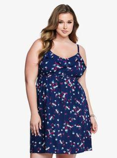 Challis Ruffle Tank Dress