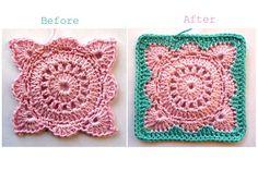 Solid 'Willow' Crochet Block How-To