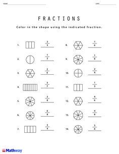 51 Best Math Worksheets images | Math worksheets, Worksheets ... Mathway Fractions on