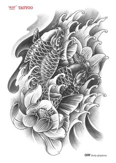 Ge-Yifei-Tattoo-Koi-Tattoo-lotus-flower-arm-tattoo-traditional-tattoo-stickers-waterproof-realistic.jpg (999×1401)