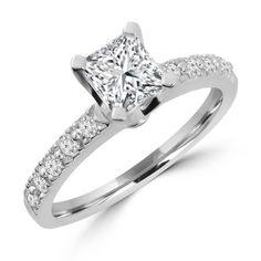 Majesty Diamonds - 1 1/5 CTW Multi Stone Princess Cut Diamond Engagement Ring in 14K White Gold, $2,719.00 (http://www.majestydiamonds.com/1-1-5-ctw-multi-stone-princess-cut-diamond-engagement-ring-in-14k-white-gold/)