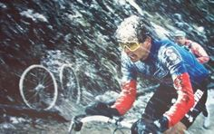 Giro d'Italia 1988: Legendary Gavia stage with Andy Hampsten. Weather is never that great on the Giro...