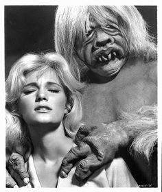 Yvette Mimieux and a morlock, The Time Machine 1960