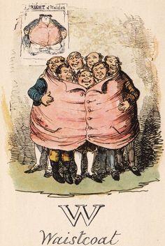 """W: Waistcoat"" from ""A Comic Alphabet"" by George Cruikshank (1836)"